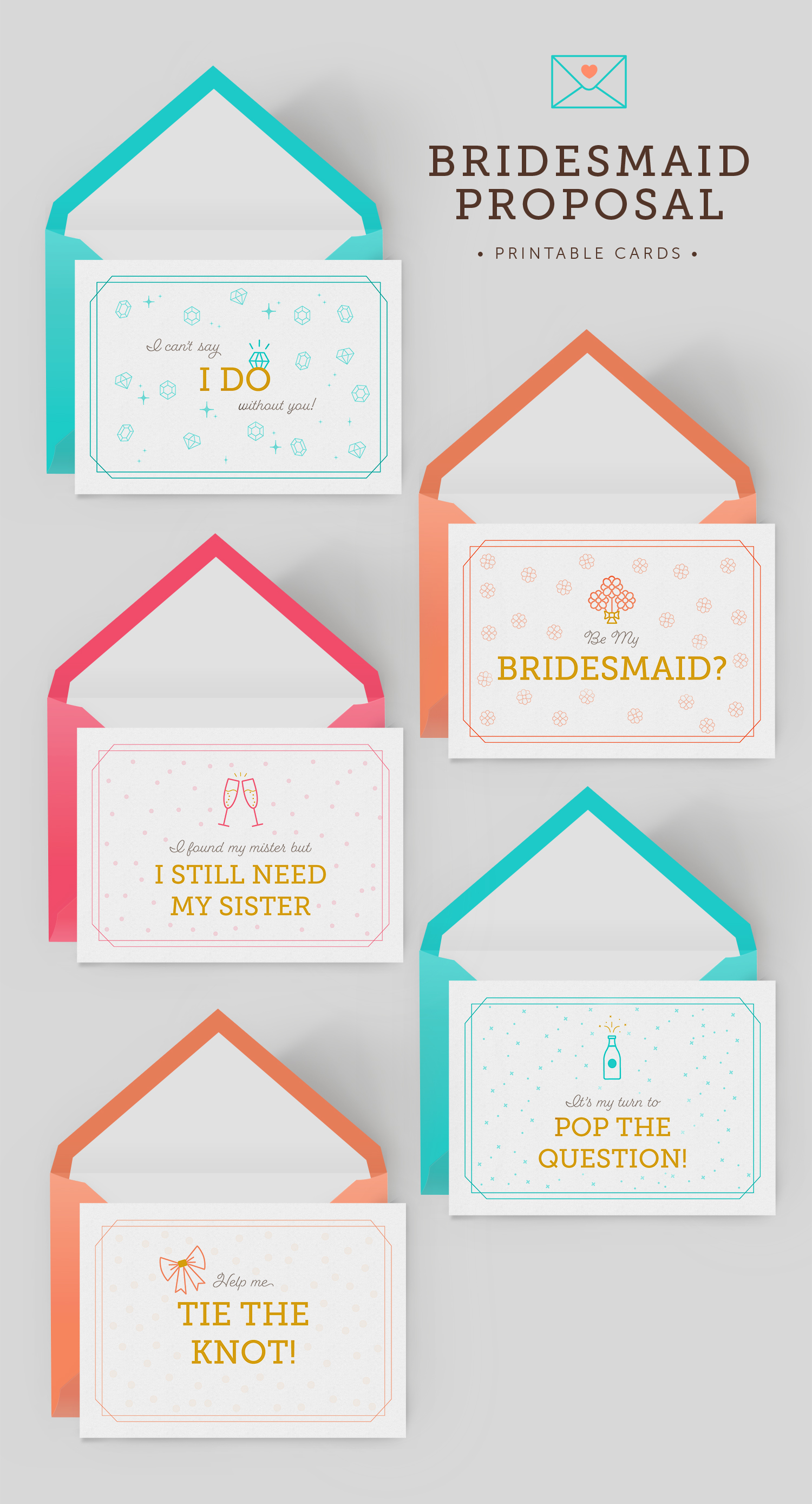 bridesmaid proposal printables