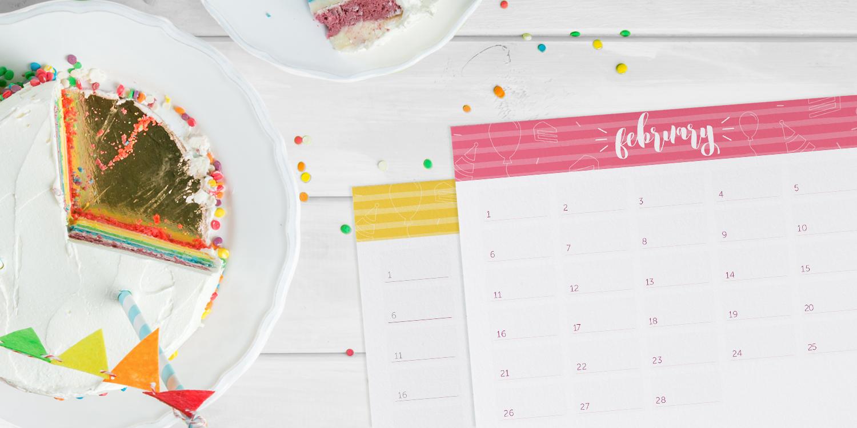 twelve page birthday calendar