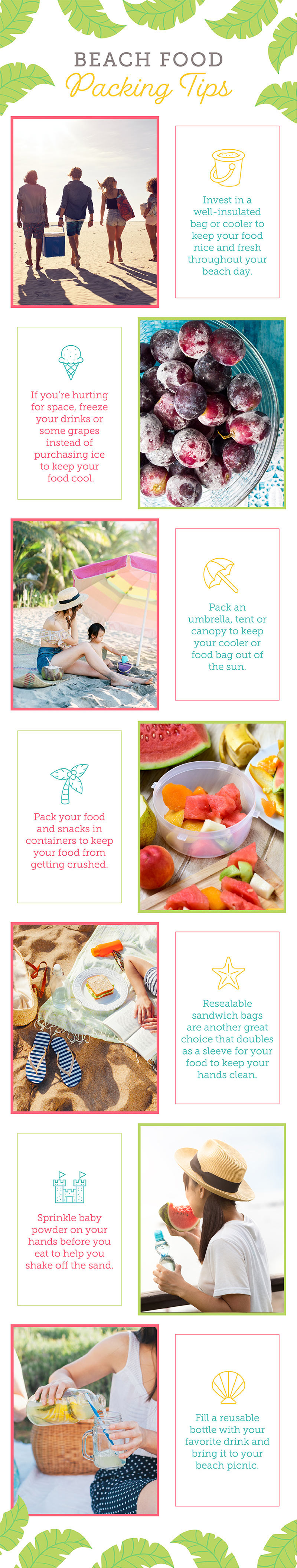 beach food packing tips