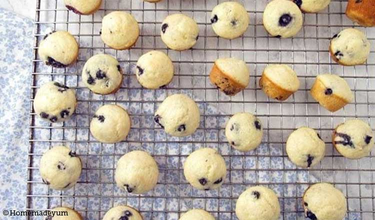 blue berry mini muffins