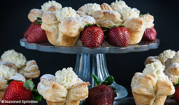pastry puff cheesecakes