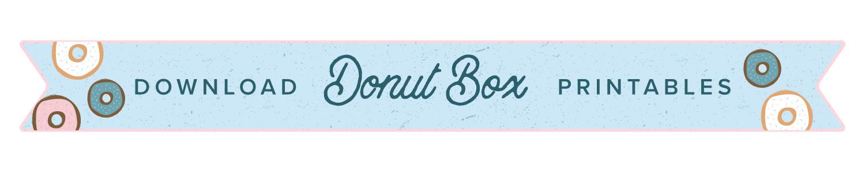 donut printable button