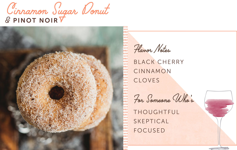 cinnamon sugar donut pairing