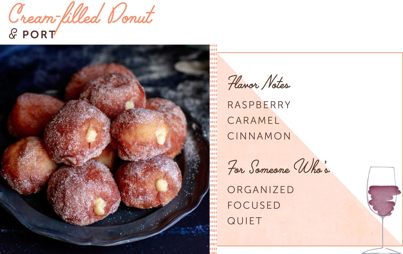 cream filled donut pairing
