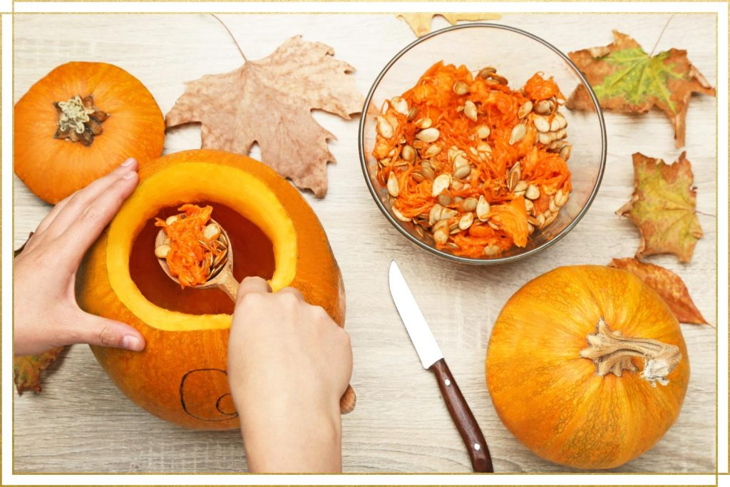 carving pumpkins, pumpkin seeds