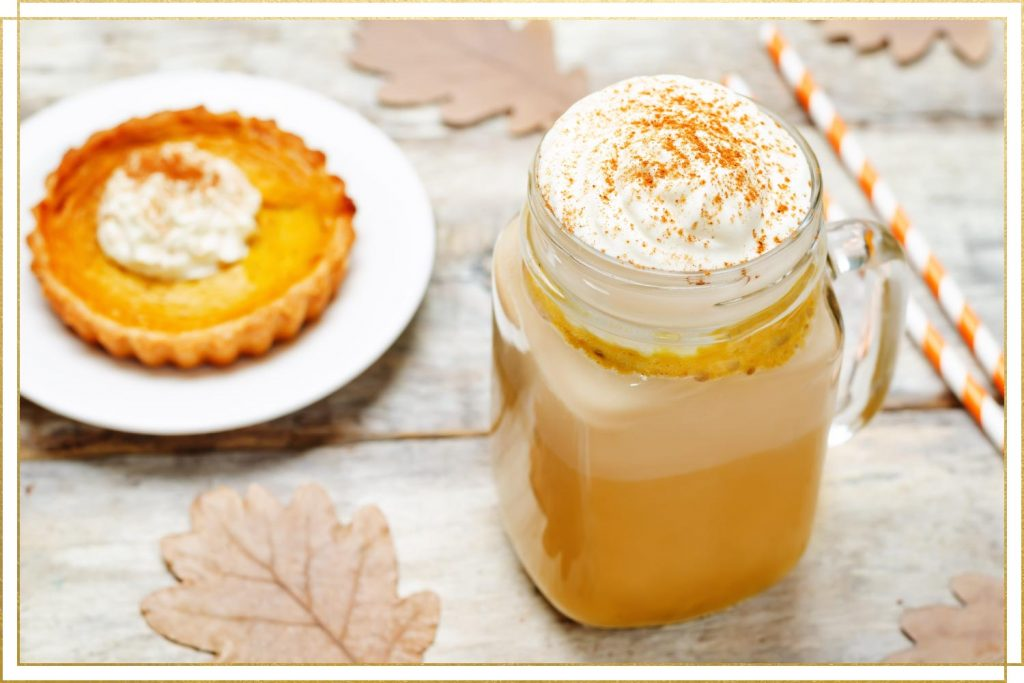 pumpkin spice dessert and drink