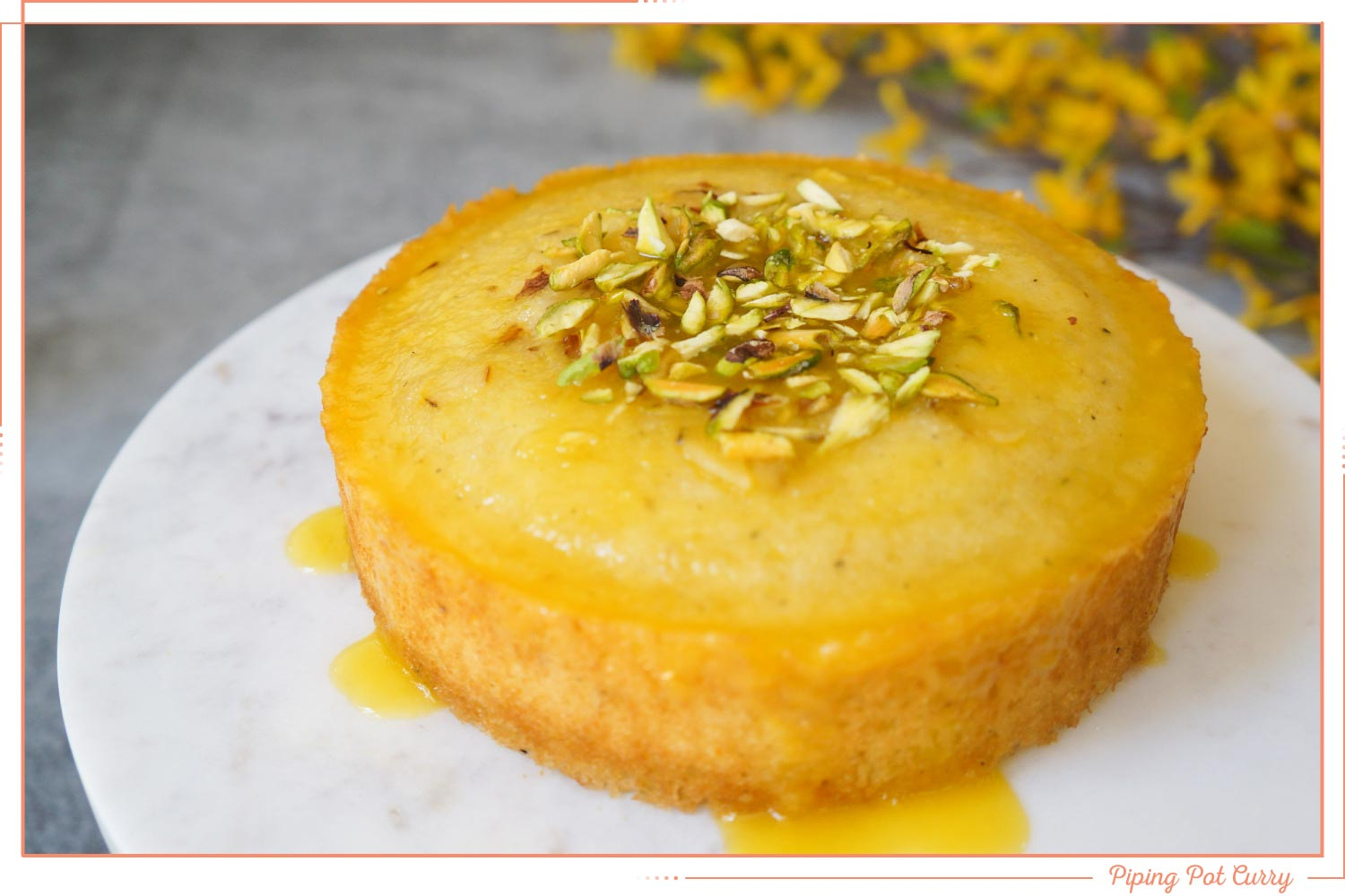 orange semolina cake instant pot dessert recipe