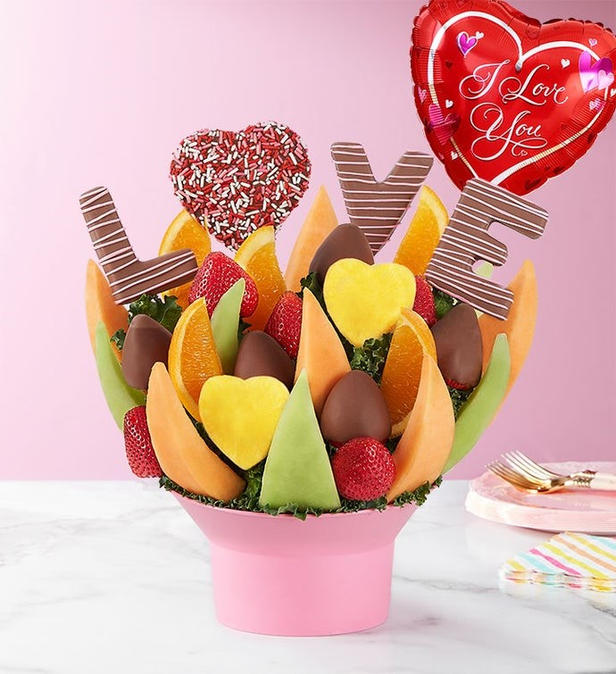 love fruit bouquet