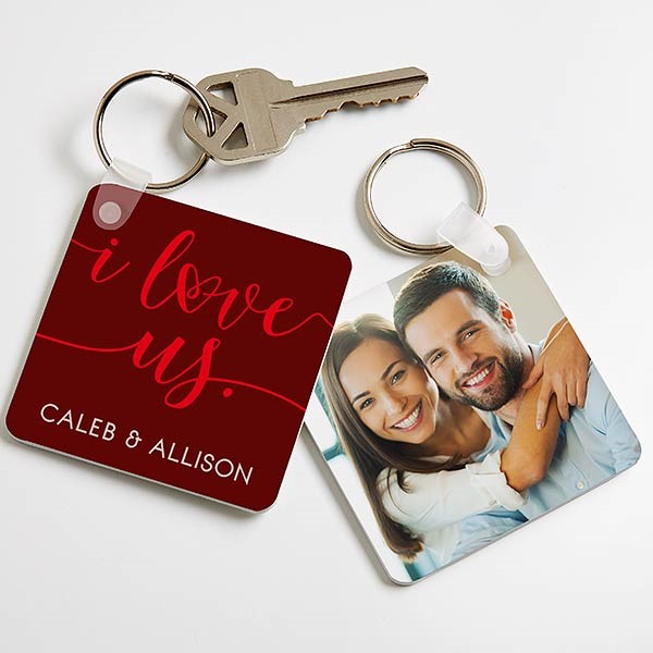 personalized i love us keychain