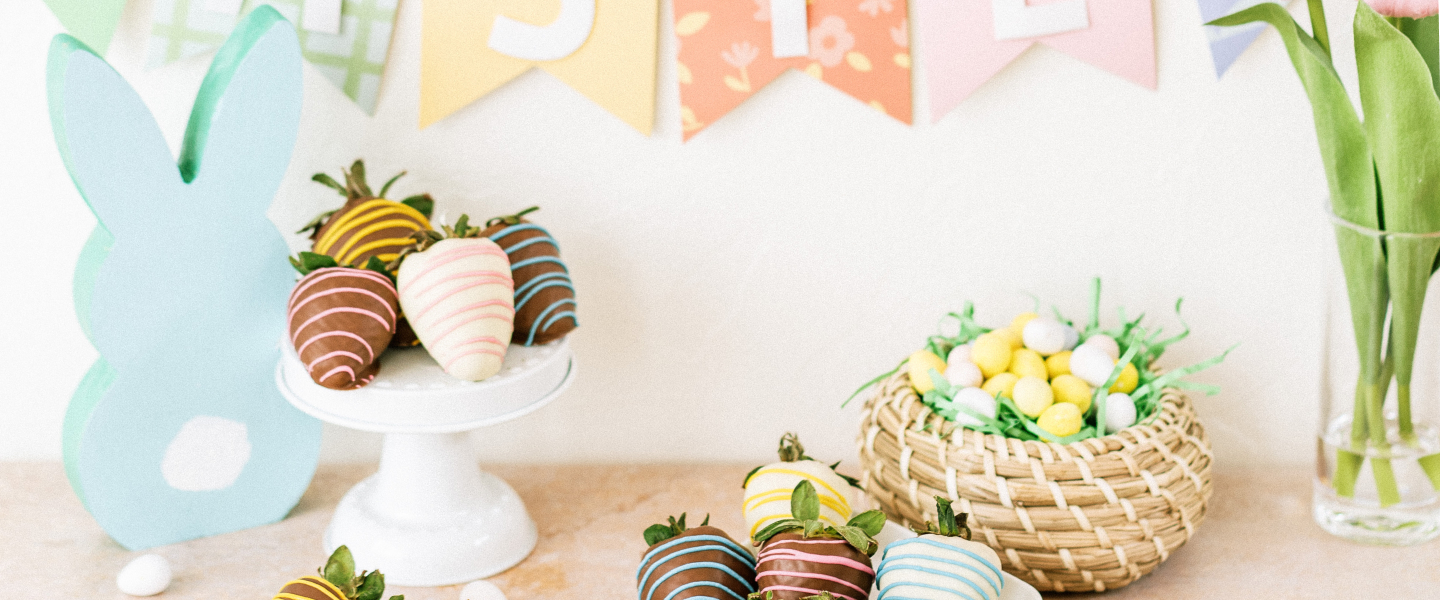Easter crafts and berries featured