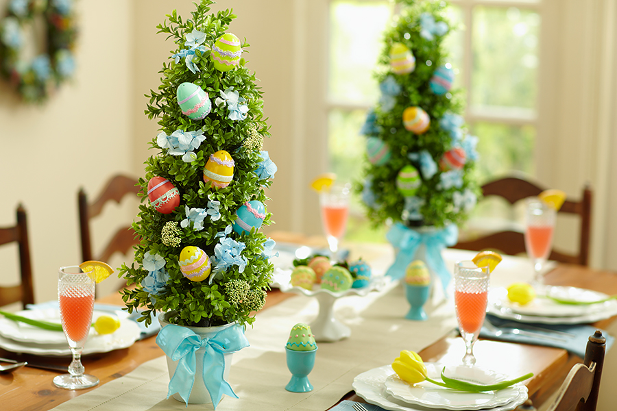 easter egg topiary tabletop