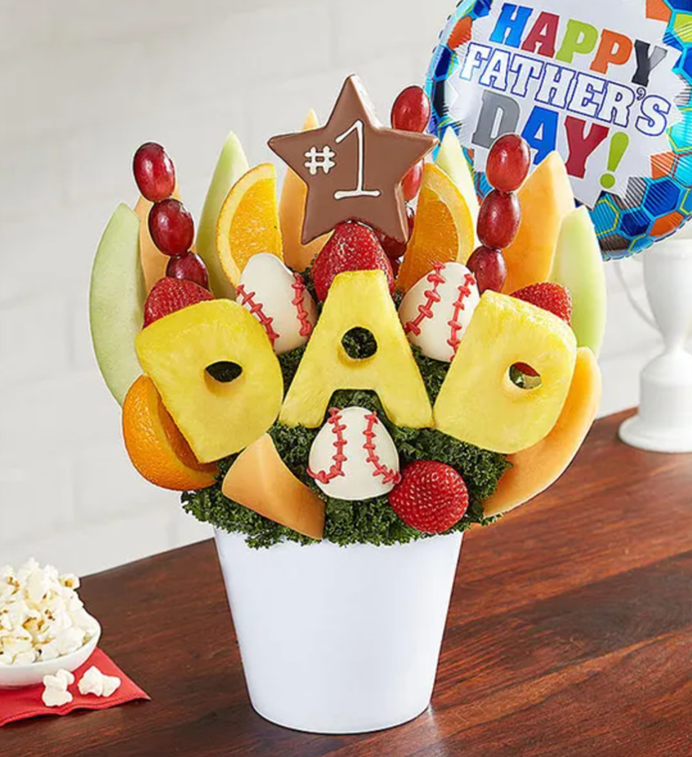 all star dad fruit arrangement