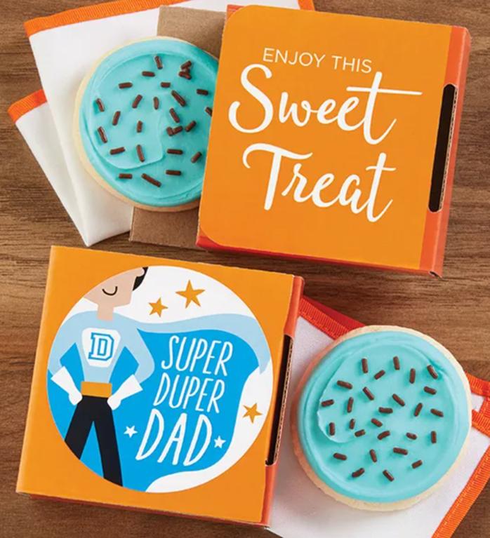 super duper dad cookie card