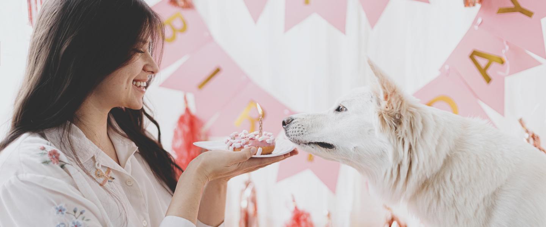 Woman Holding Cupcake Dog