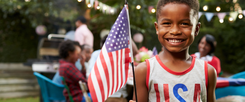 child american flag
